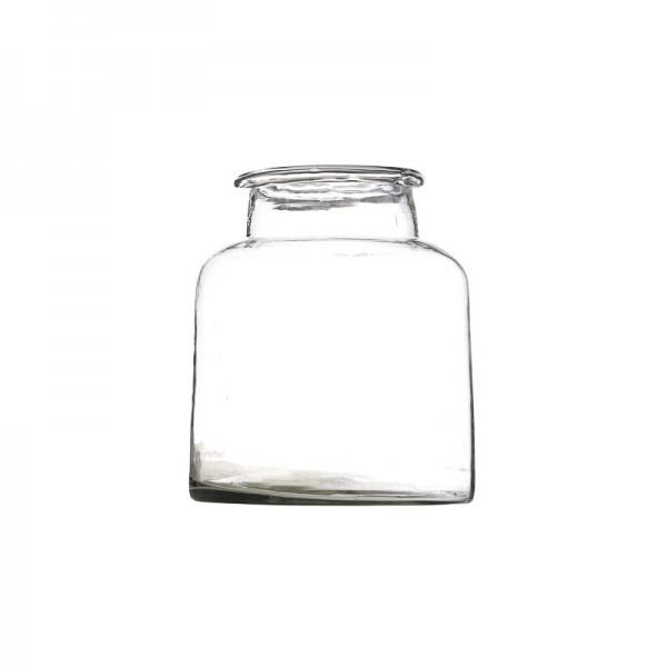 Jarrón de vidrio 20 cm