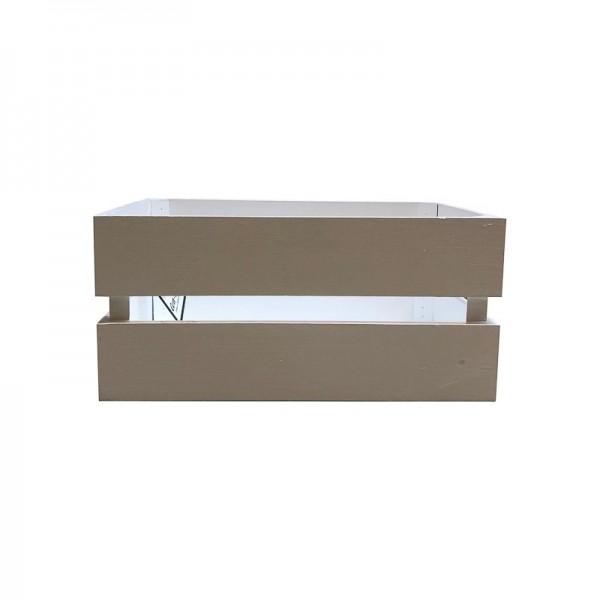 Caja de madera blanca