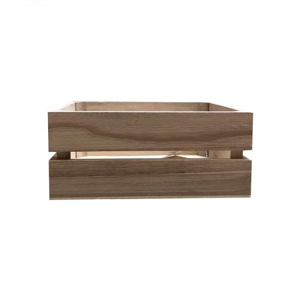 Caja de madera rectangular