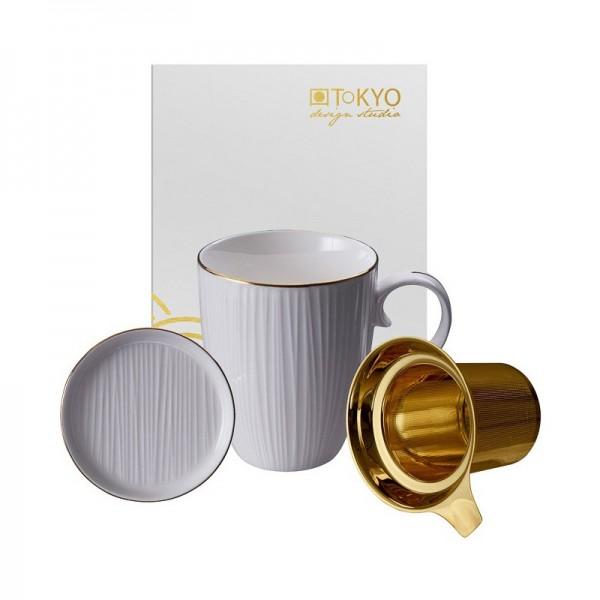 Mug Nippon white rayas