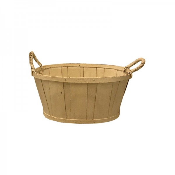 cesta ovalada natural madera