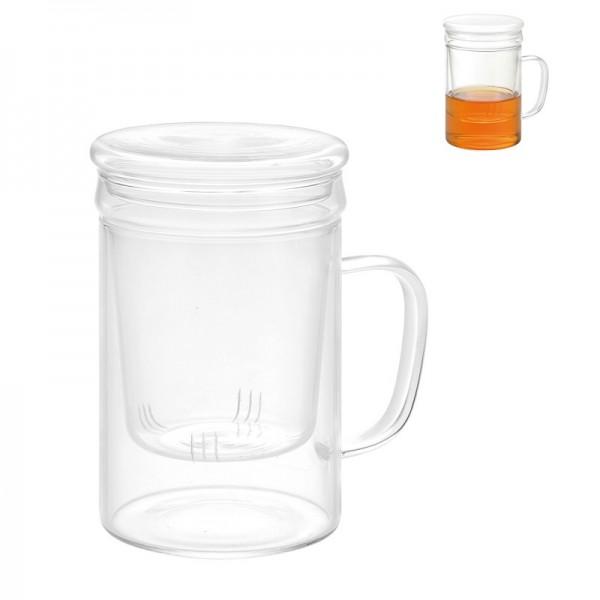 Taza con filtro de vidrio