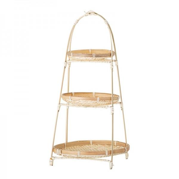 Stand 3 pisos en bambú