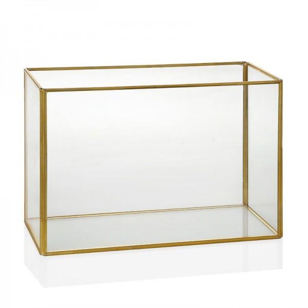 Terrario grande de vidrio y...