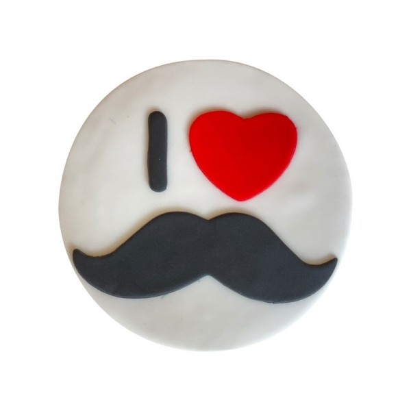 Galleta Bigote I love Papá