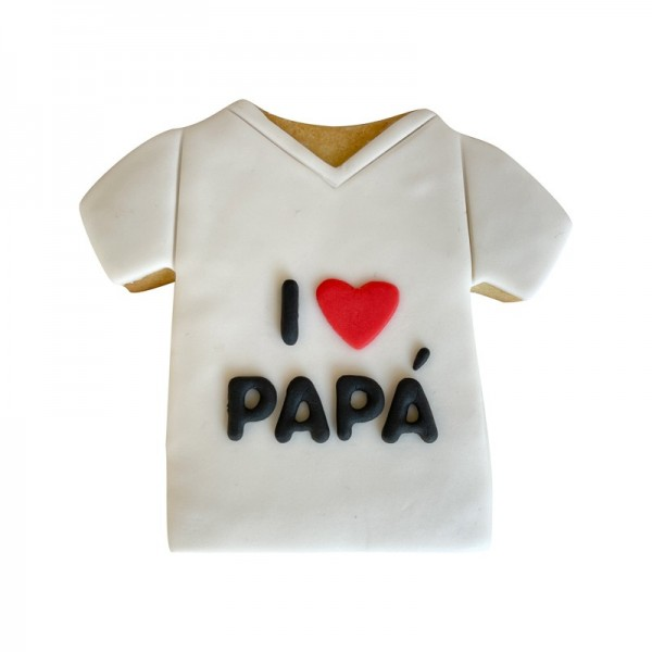 Galleta Camiseta I love Papá