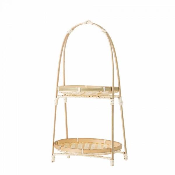 Stand 2 pisos en bambú