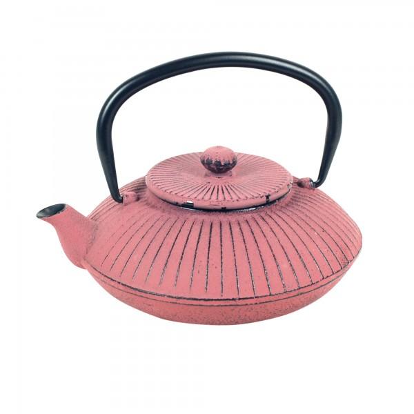 Tetera de hierro rosa