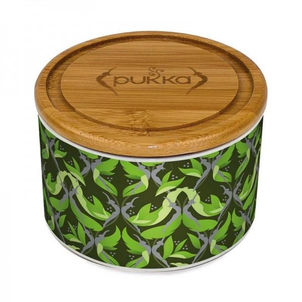 Té Matcha en tarro de cerámica verde Pukka