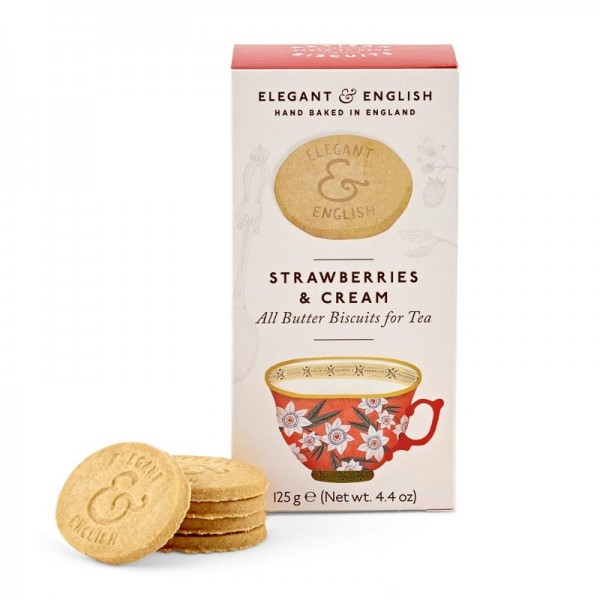 Galletas Strawberries & Cream Elegant English